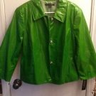 NWT $498 Lafayette 148 New York Green 100% Silk Jacket Size 12