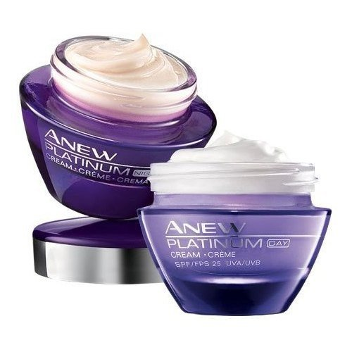 SET OF 2 AVON ANEW PLATINUM DAY + NIGHT CREAM | FULL SIZE | SEALED + 2 GIFTS