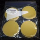 "3  pks of 25 ea 3"" hook and loop aluminium oxide sanding discs,500,800,1000 grit"