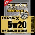 Cerma X 5qt.  5 W 20 30,000mi. synthetic motor oil w/STM3