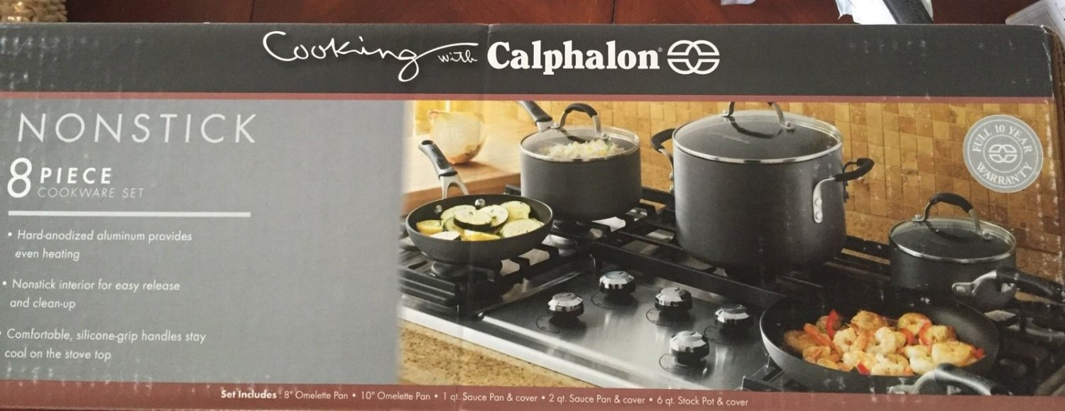 Cooking With Calphalon Nonstick 8 Piece Cookware Set