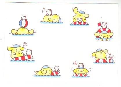 Japan Sanrio Pom Pom Purin Swim Postcard