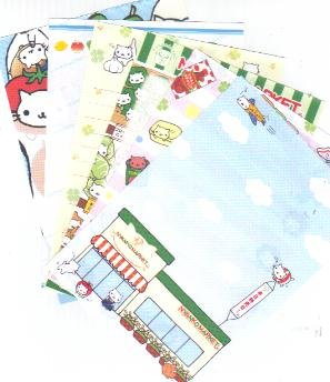 JAPAN San-x Nyanko Market Papers Kawaii