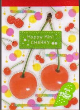 JAPAN KAMIO Happy Mini Cherry Notepad (large memo pad) KAWAII