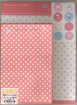 JAPAN Bird w/ Polka Dots Lettersets Pack KAWAII