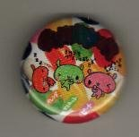 Japan Bunny with Jelly Bean Metal Pin / Button Kawaii