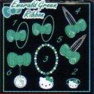 KAWAII Japan Hello Kitty Ring (Emerald) #2