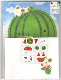 Korea Morning Glory Watermelon Lettersets + Sticker Pack