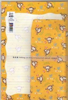 Korea Monkey Lettersets Pack KAWAII