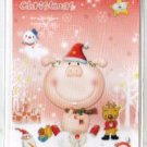 Korea Pink Pig Christmas Card w/ Envelope (Glitter)