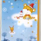 Korea Bear Snowman Christmas Card w/ Envelope (Glitter)