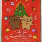 Korea Cookie Bear Christmas Card w/ Envelope #9