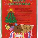 Korea Cookie Bear Christmas Card w/ Envelope #10