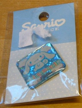 Japan Sanrio Baby Cinnamoroll Sparkly Pin (Square) Kawaii