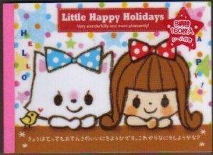 JAPAN Kamio Little Happy Holidays Notepad (large memo pad) Kawaii