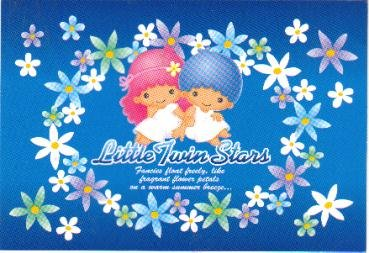 Japan Sanrio Little Twin Stars Postcard KAWAII