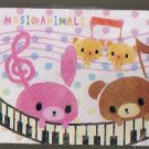 Japan Cru-x Music Rabbit Bear Memopad KAWAII