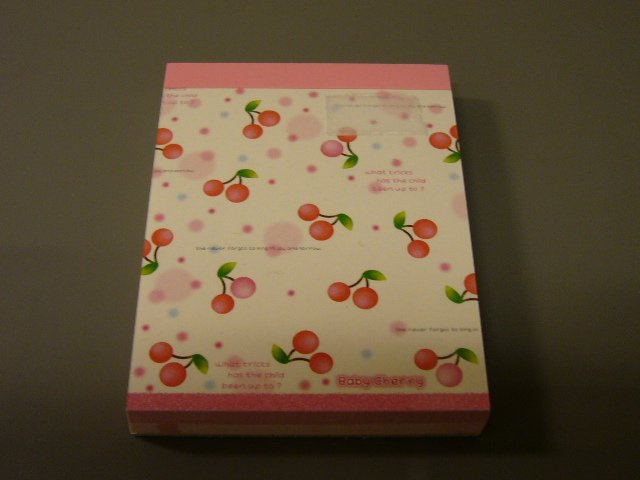 Japan Preco Baby Cherry Memopad KAWAII