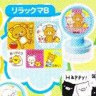 Japan San-x Rilakkuma Self-inked Stamp (Blue) w/ Stickers KAWAII