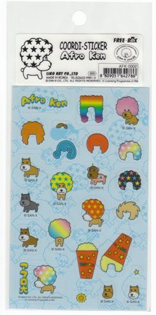 Japan San-x Afro Ken Change Hair Style Sticker KAWAII