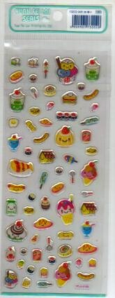Japan Food & Dessert Jelly Sticker KAWAII