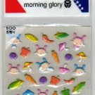 Korea Morning Glory Vegetable Sponge Sticker KAWAII