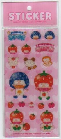Korea Artbox Strawberry Guys Beads Sticker KAWAII