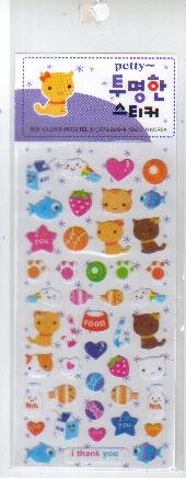 Korea Kitten Glitter Sticker KAWAII