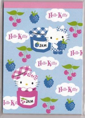 JAPAN Sanrio Hello Kitty Jam Notepad (large memo pad) KAWAII