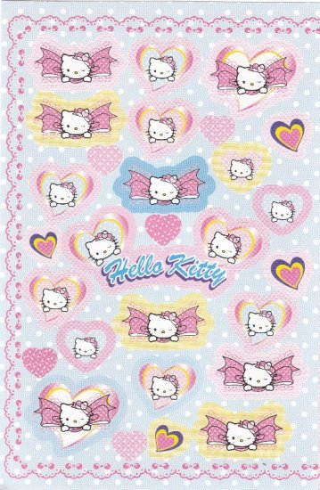 Japan Sanrio Hello Kitty Ribbon Sticker KAWAII