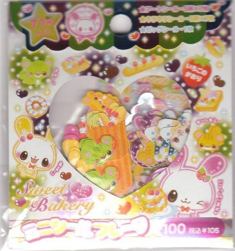 Japan Cru-x Sweet Bakery Rabbit Sack Stickers KAWAII
