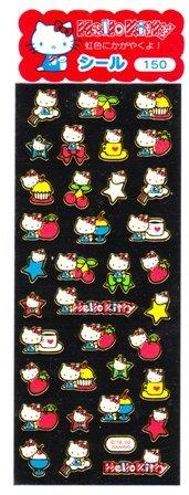 Japan Sanrio Hello Kitty Rainbow Colour Laser Sticker KAWAII