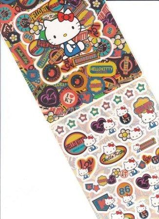 Japan Sanrio Hello Kitty Jean Style Jumbosealdass Sticker KAWAII