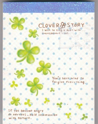 Japan Pool Cool Clover Story Memopad KAWAII