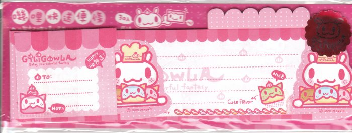 Taiwan Giligowla Rabbit Cook Long Memopad KAWAII (Pink)