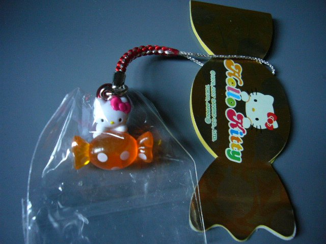 JAPAN Hello Kitty Candy Handphone Strap KAWAII