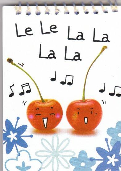 """Cherry """"Le Le La La La La"""" Small Notebook Kawaii"""
