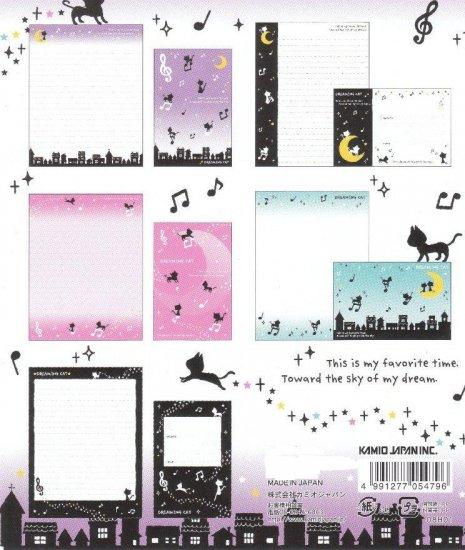 JAPAN Kamio Dreaming Cat Music Lettersets Kawaii