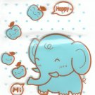 3x Japan Elephant & Apple Plastic Gift Bags w/ Zipper KAWAII