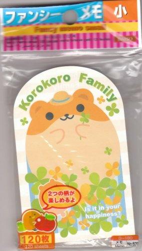 JAPAN Hamster & Frog Die Cut Memopad KAWAII