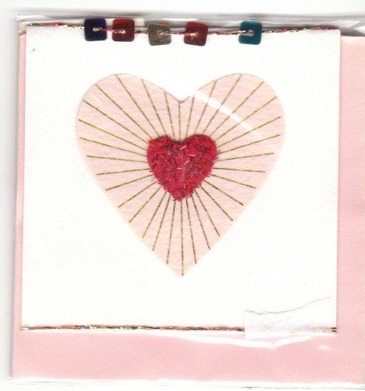 Taiwan Glittery Heart Notecard KAWAII