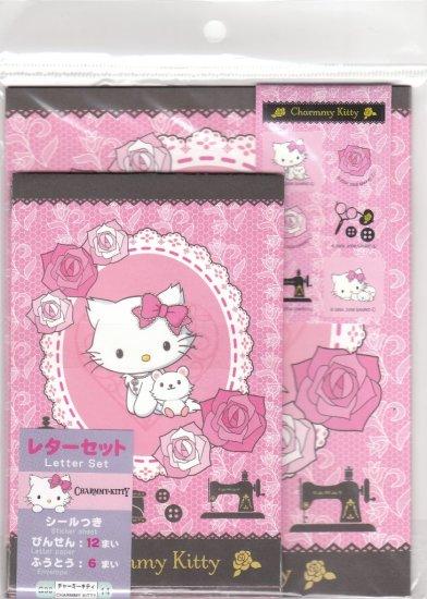 JAPAN Sanrio Charmmy Kitten w/ Rose Lettersets Pack + Sticker KAWAII