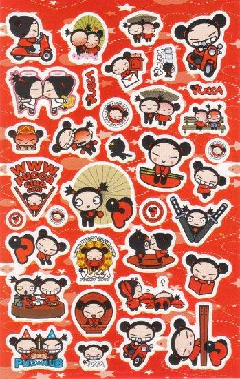 Korea Pucca Love Big Sticker Sheet KAWAII (Red)