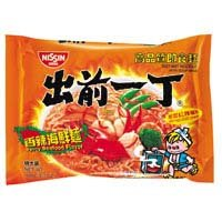 Japan Brand Nissin Instant Noodle - Spicy Seafood Favour