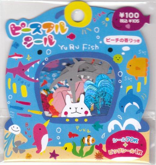 Japan Mind Wave Sea Animal Sack Stickers KAWAII