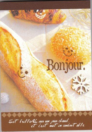 JAPAN Bonjour Happy Bread Notepad (large memo pad) KAWAII