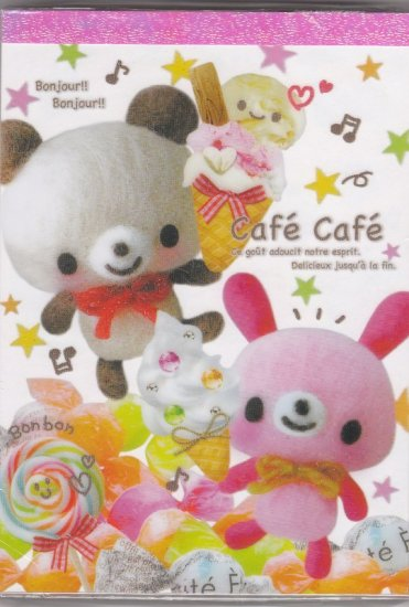 JAPAN Kamio Panda Rabbit Cafe Notepad (large memo pad) Kawaii