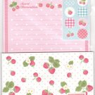 JAPAN Sweet Strawberry Lettersets Pack + Sticker KAWAII