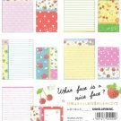 JAPAN Kamio Rose & Strawberry Lettersets KAWAII