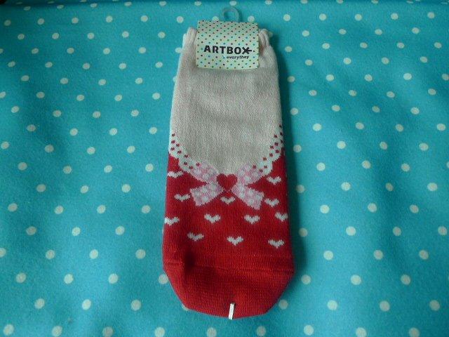 Korea Wear Pumps Ribbon Socks Kawaii (Red)